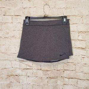 Nike Dri Fit Gray Knit Activewear Skort sz XS